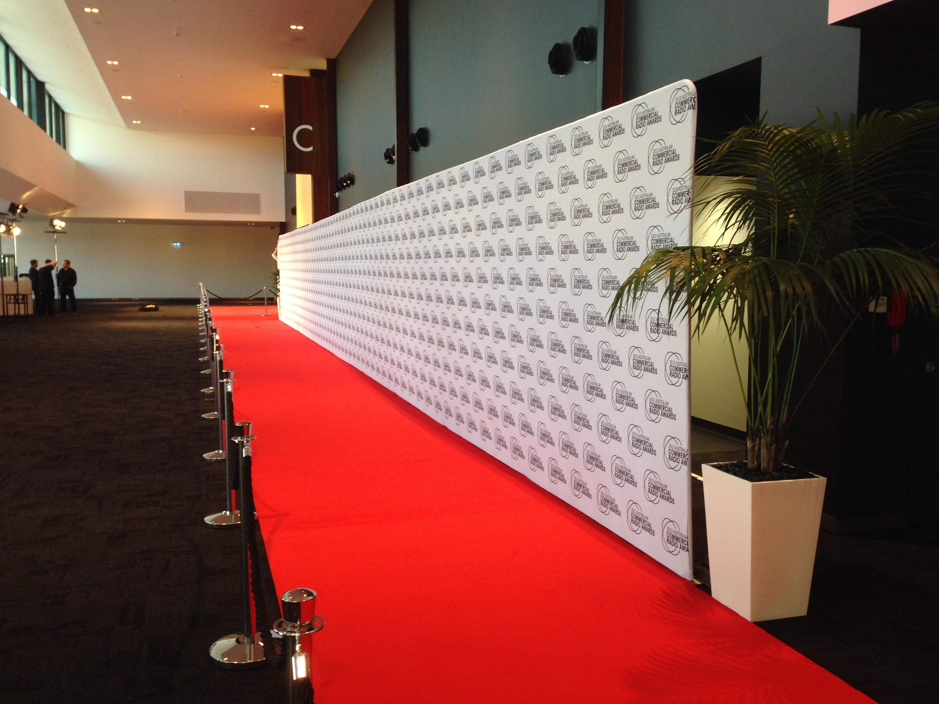Media Walls Carpet Hire Qld